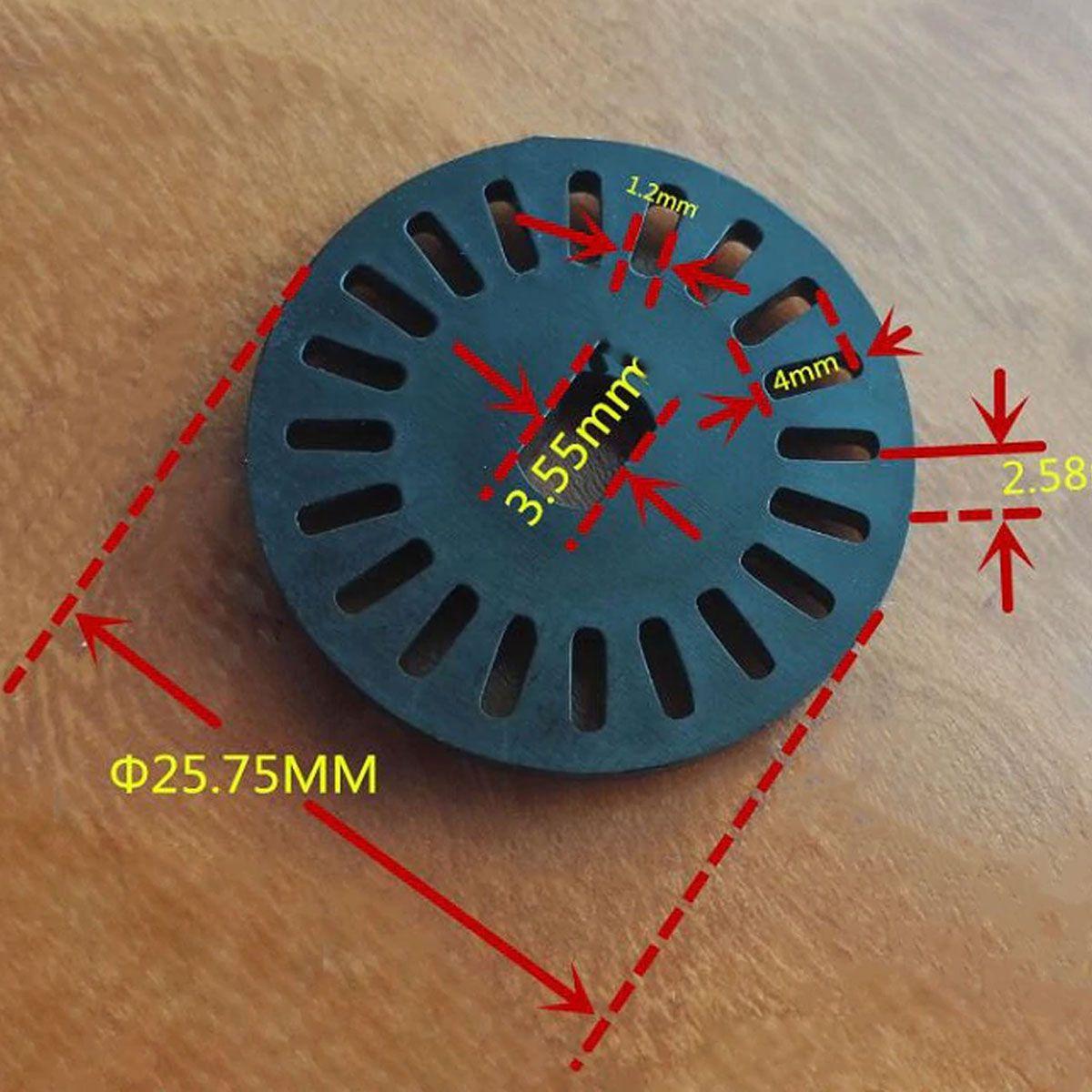 2x Disco Encoder com 20 Furos / Dentes 25,7mm de Diâmetro