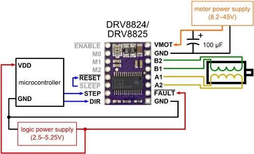 2x Driver DRV8825 com Dissipador de Calor