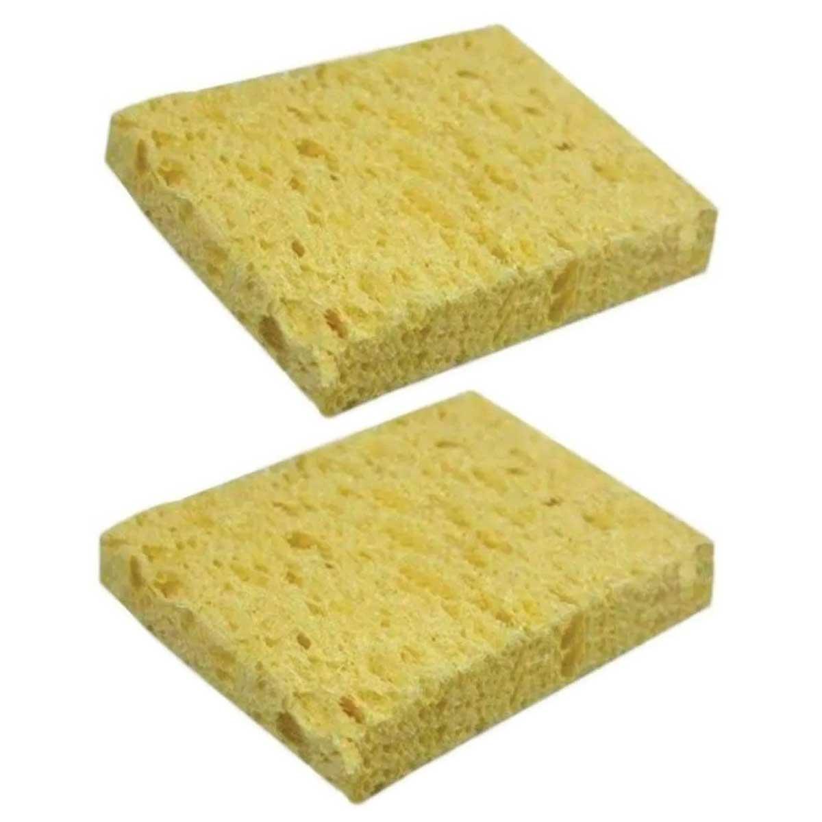 2x Esponja Vegetal para Limpeza de Ferro de Solda