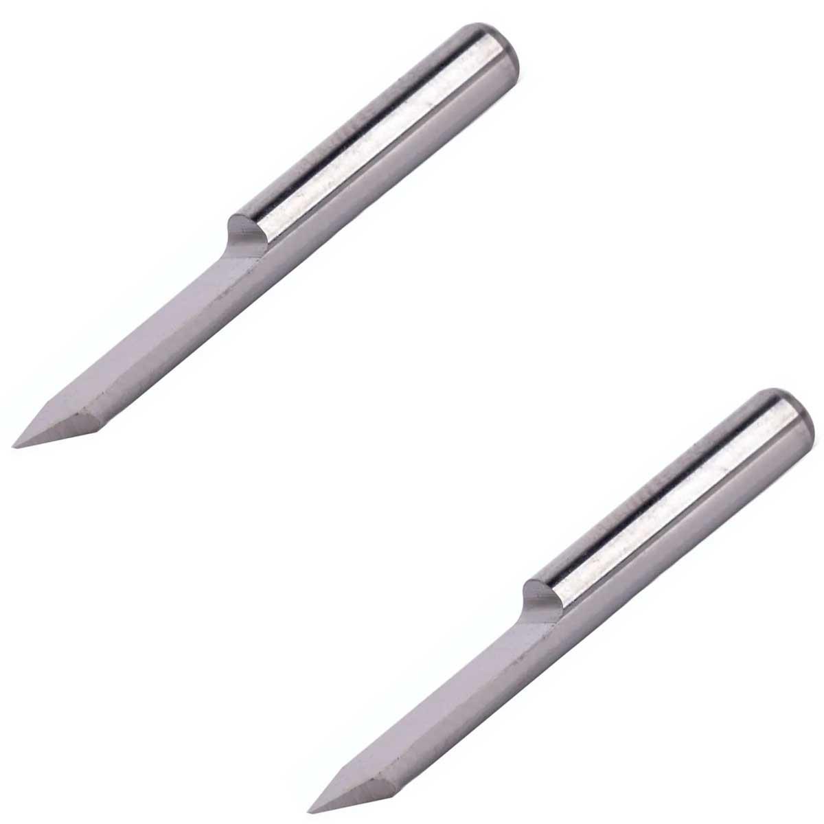 2x Fresa ponta 0.1mm com ângulo 90° espessura 3.175 para CNC