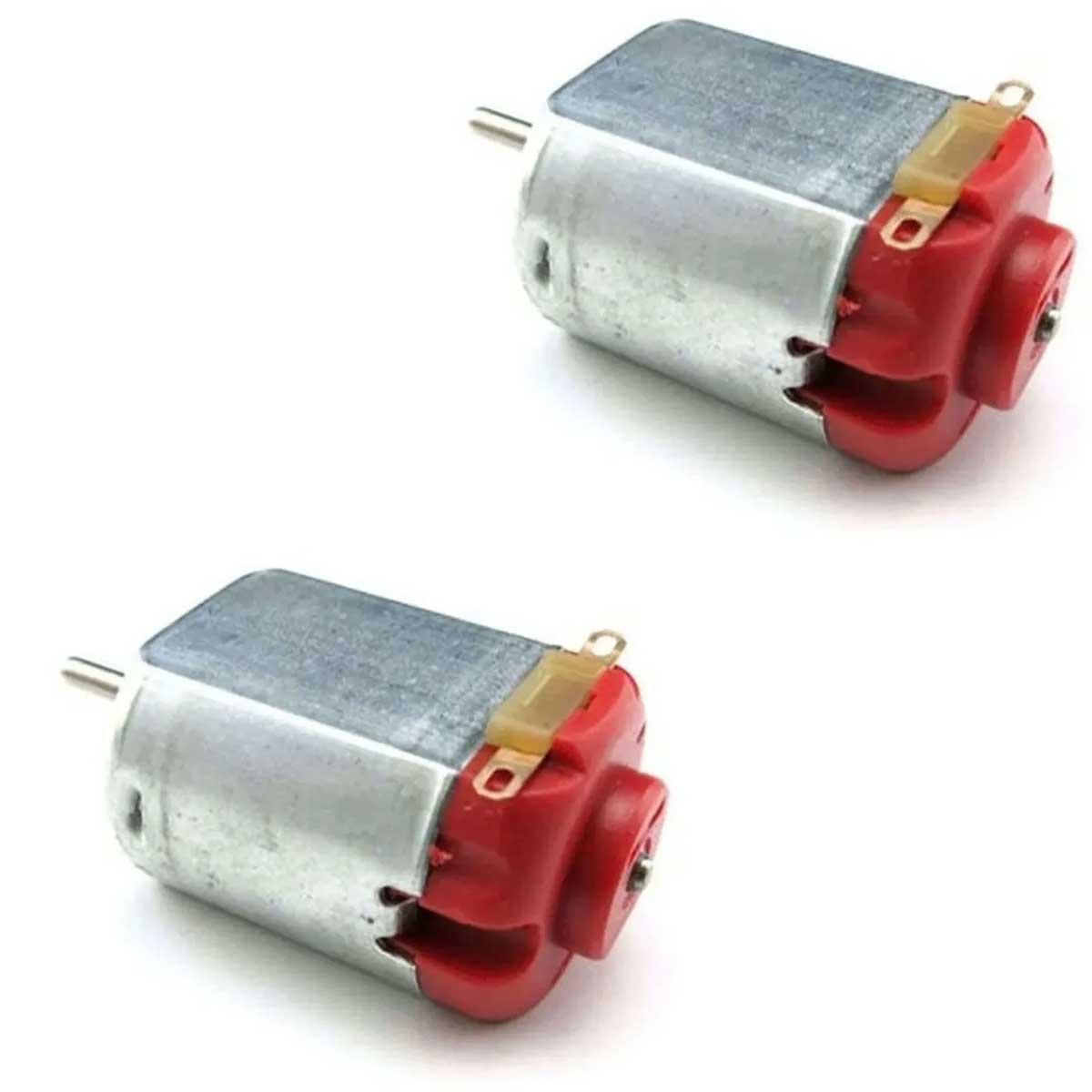 2x Mini Motor DC 3v a 6v sem Redução - Vermelho