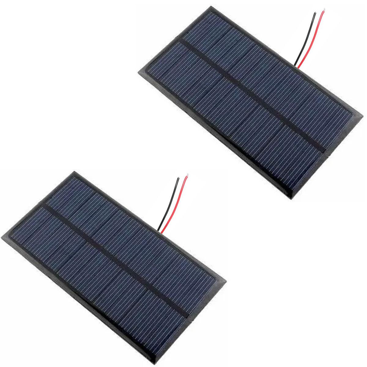 2x Mini Placa Solar 12v 1.5w com Cabos Soldados p/ Ionizador de Piscina