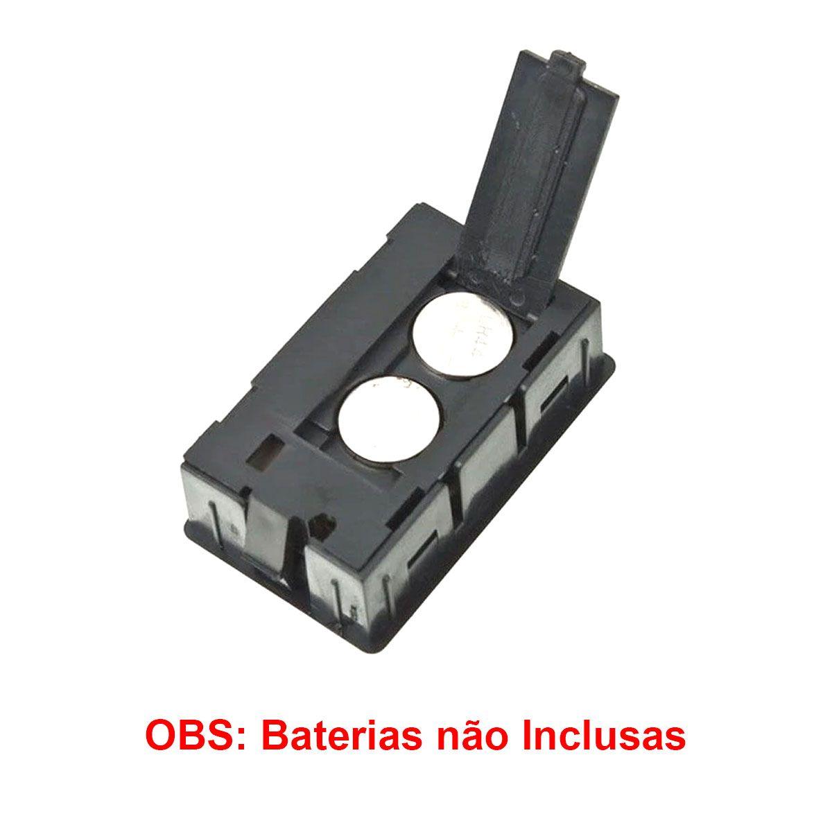 2x Mini Termômetro - Higrômetro Digital / Mede Temperatura e Umidade COM Baterias - Preto