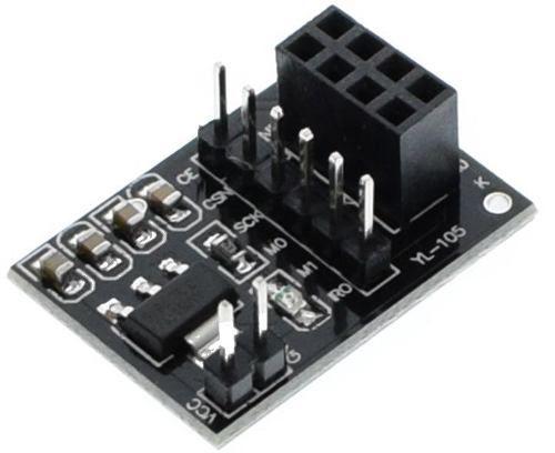 2x Módulo Adaptador Alimentação para NRF24L01 Yl-105 8 Pinos 5v