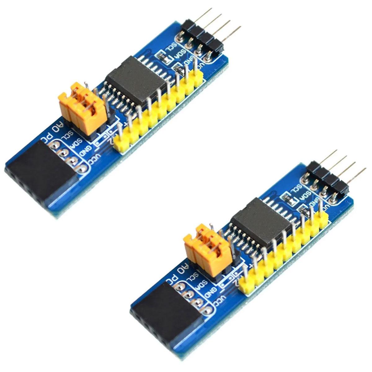 2x Módulo Expansor de Portas I2c 8 Bits PCF8574