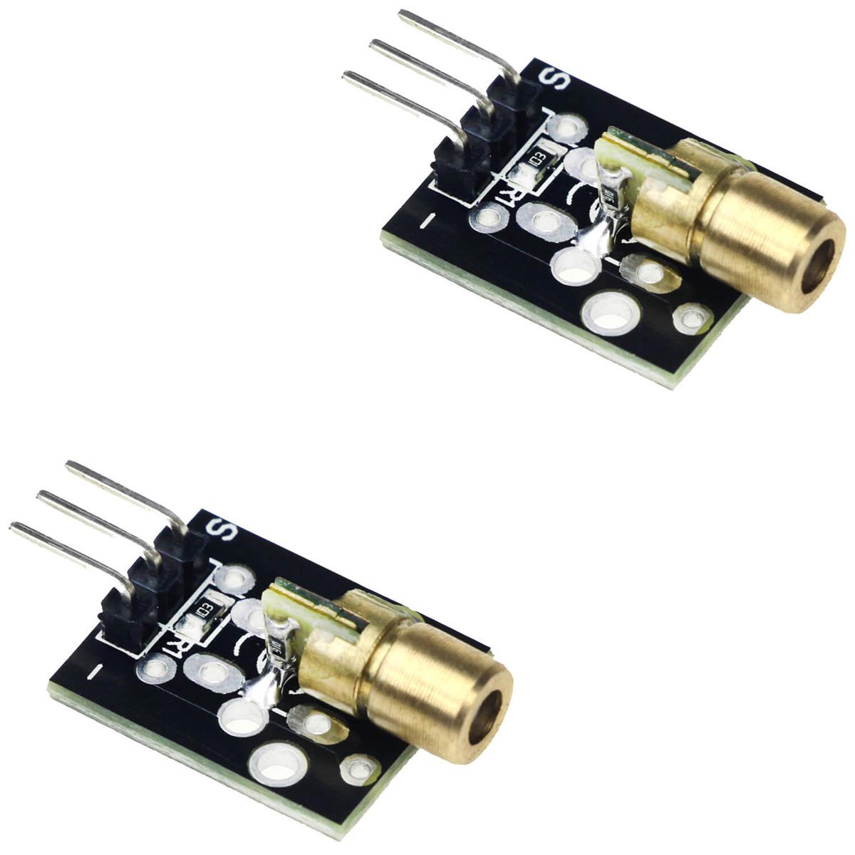 2x Módulo Laser 6mm 5mW Vermelho KY-008