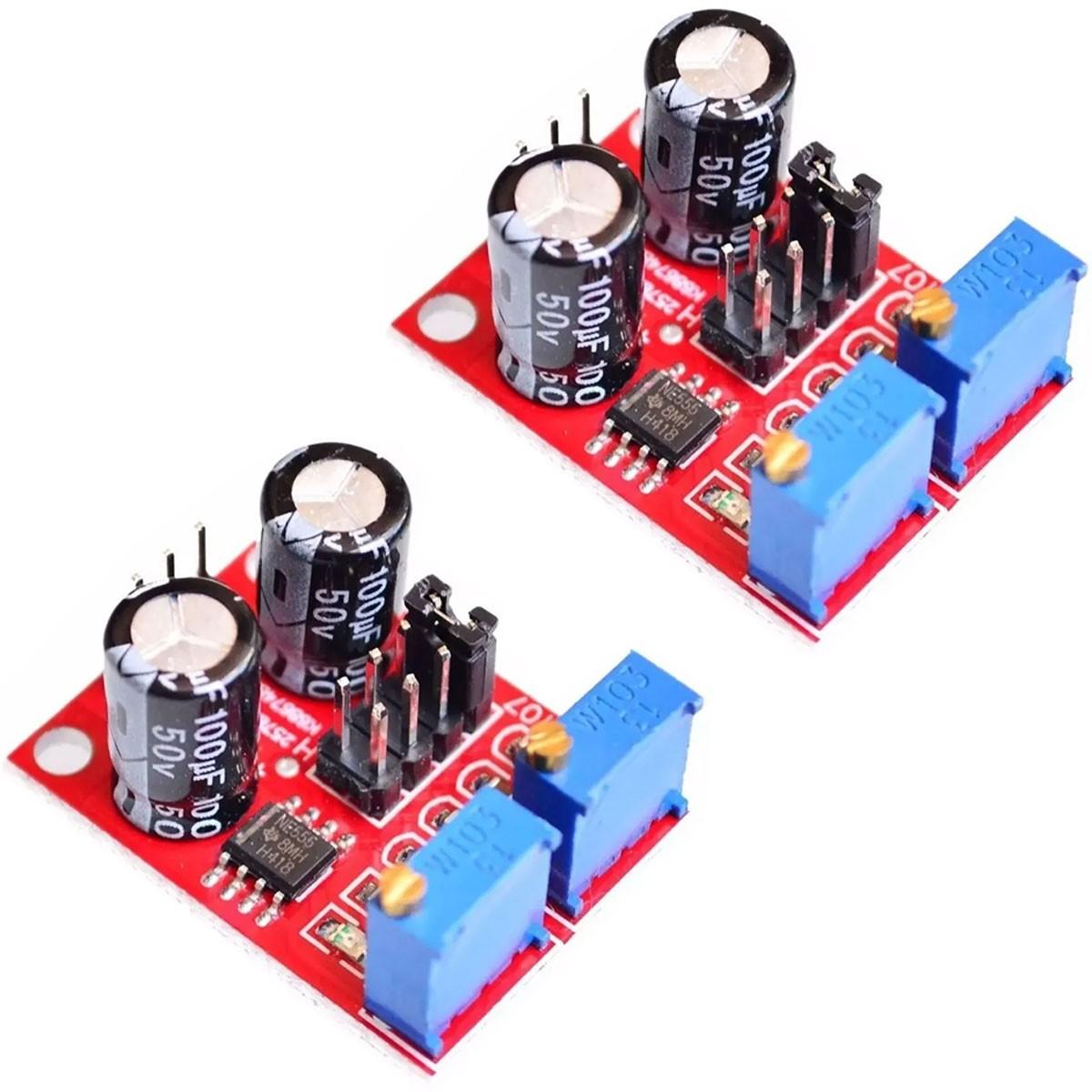 2x Modulo Ne555 Gerador Pulso Frequência PWM