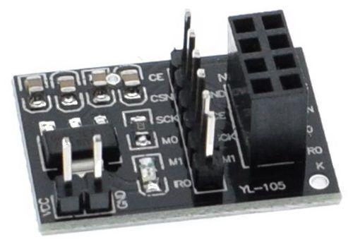 2x Modulo Wireless NRF24l01 2.4ghz com Antena + 2x Módulo Adaptador de Alimentação