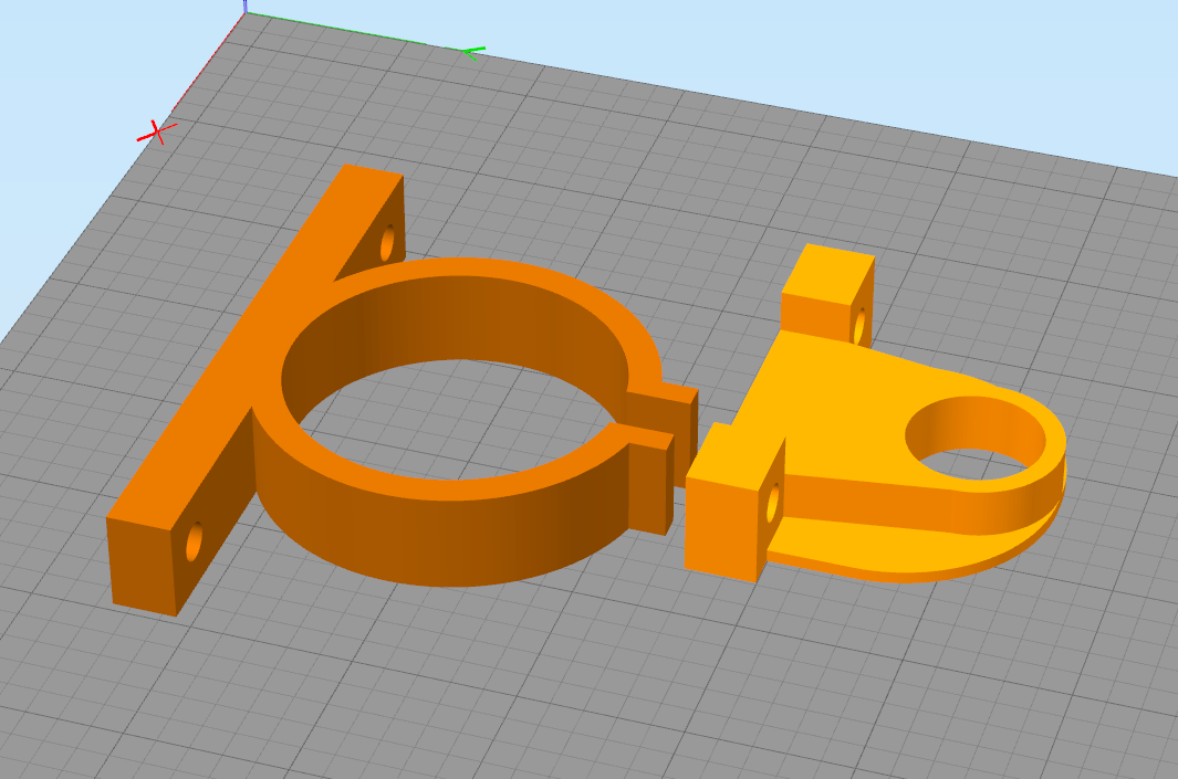 2x Peças Personalizadas Impressas em 3D - Cor Preta