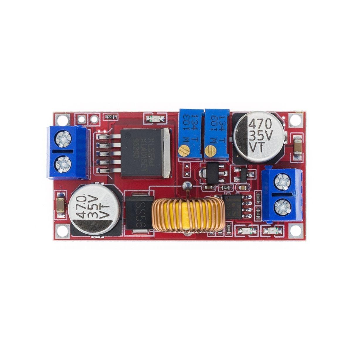 2x Regulador com Ajuste de Corrente e Tensão XL4015 5A DC DC Step Down