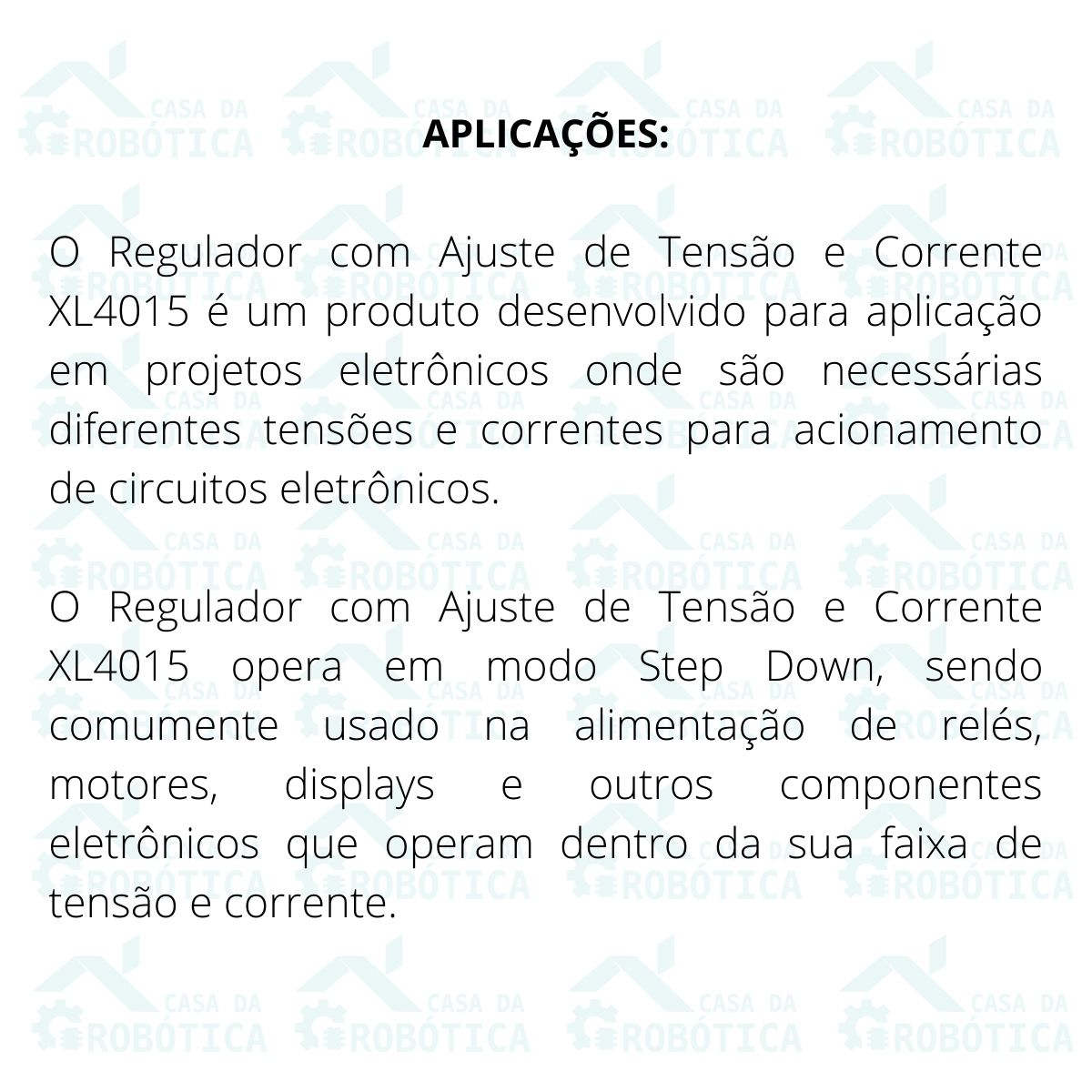 2x Regulador com Ajuste de Corrente e Tensão XL4015 5A DC DC Step Down