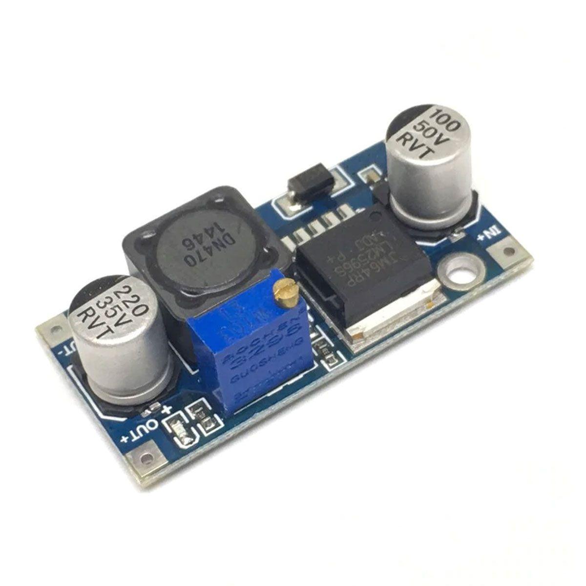 2x Regulador de Tensão Step Down - Buck Conversor DC DC LM2596 3A