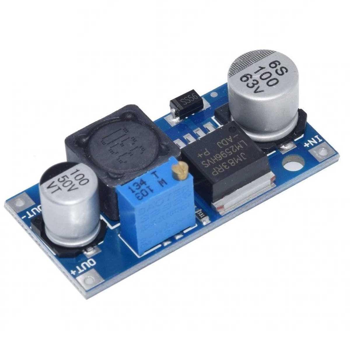 2x Regulador de Tensão Step Down Entrada 4,5v a 53v - Buck Conversor DC DC LM2596HVS 3A