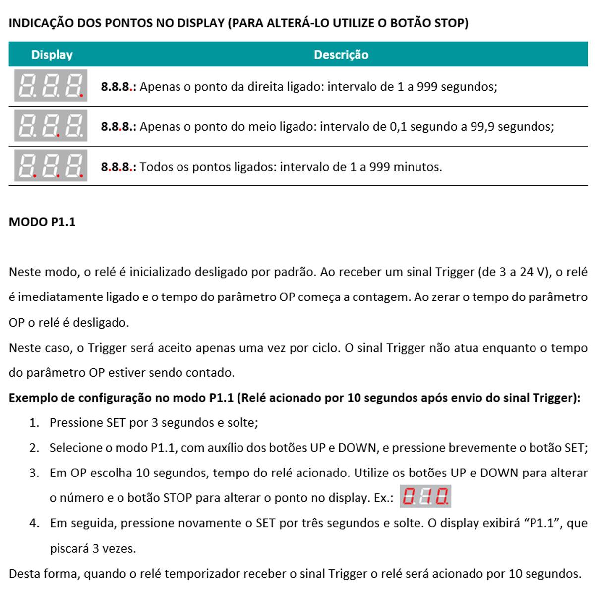 2x Relé Temporizador Digital Ajustável Delay Timer para Chocadeira e Usos em Geral