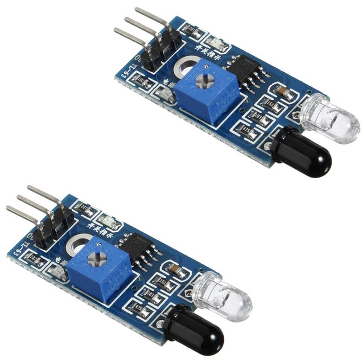 2x Sensor de Obstáculo Reflexivo Infravermelho IR
