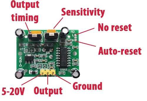 2x Sensor de Presença / Movimento HC-SR501 PIR