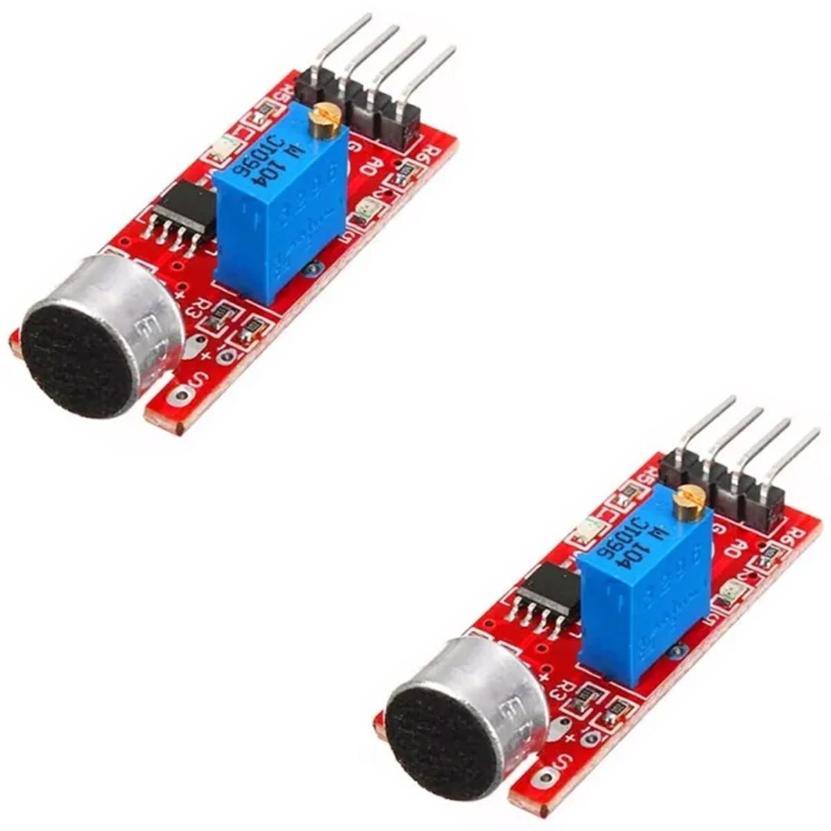 2x Sensor Detector de Som / Palma Microfone KY-037