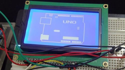 Display LCD 128x64 Gráfico Backlight Azul ST7920