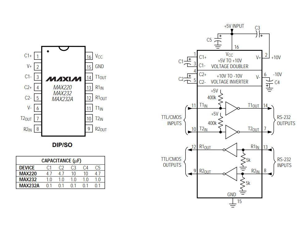 3x Circuito Integrado MAX232 MAX 232 Maxim CI