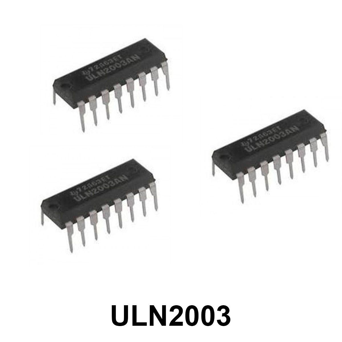 3x Circuito Integrado ULN2003 ULN 2003 Ponte H - 7 canais 500mA