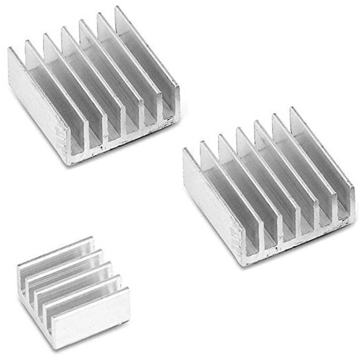 3x Dissipador de Calor Compatível com Raspberry PI, Lm2596, Arduino