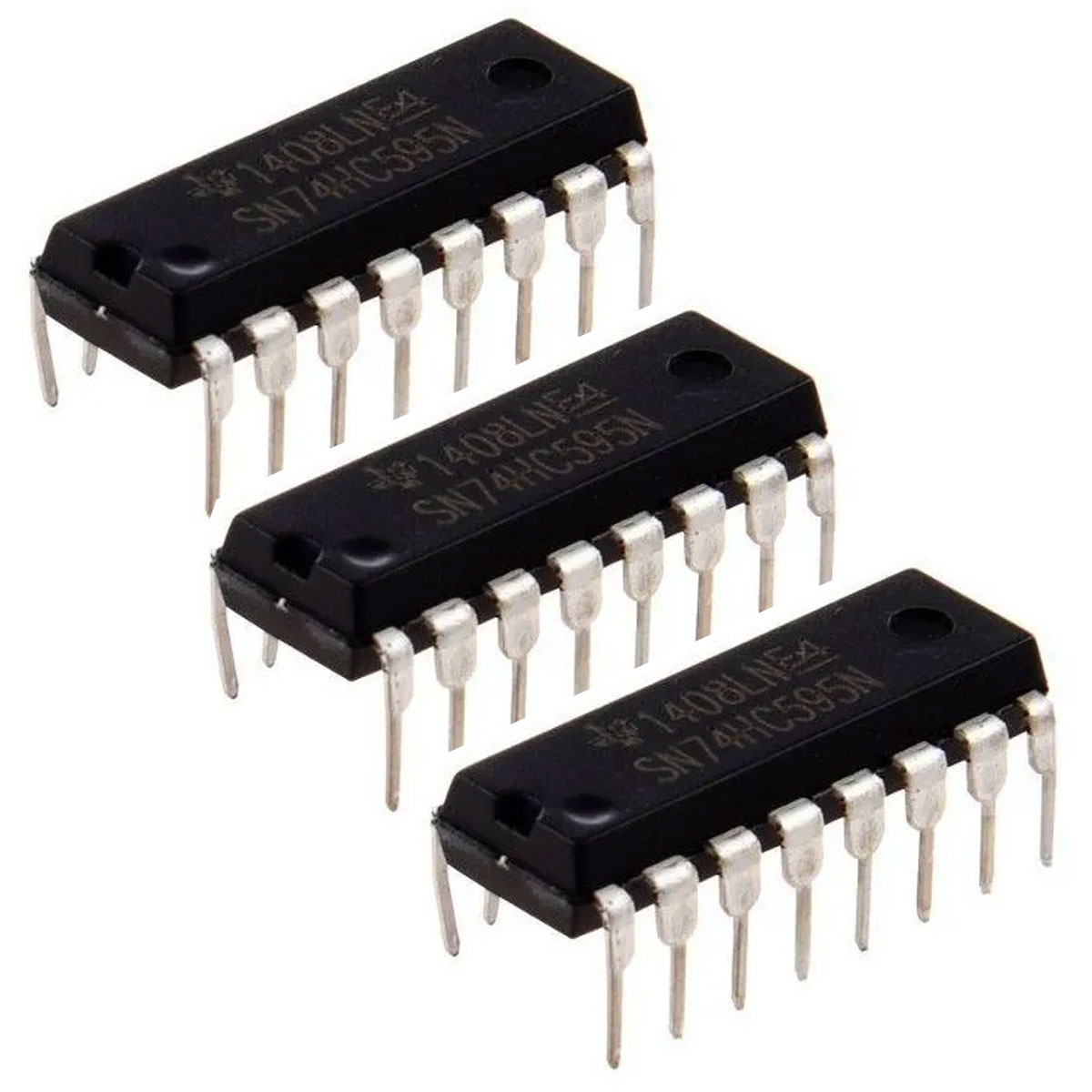 3x Expansor de Portas 74HC595 Shift Register 8bit