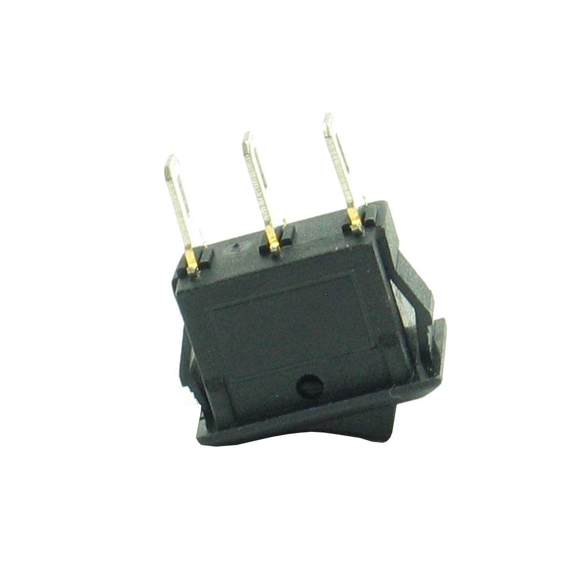 3x Mini Chave Gangorra KCD11-102 3 Terminais 2 Posições - Cor Preta
