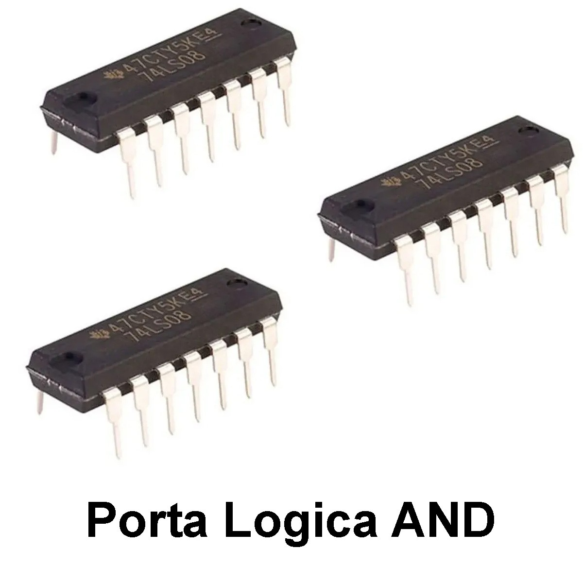 3x Porta Lógica AND Circuito Integrado - CI 74LS08