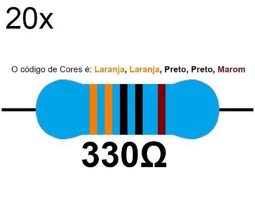 20x Resistor 330 Ohms 1/4 W