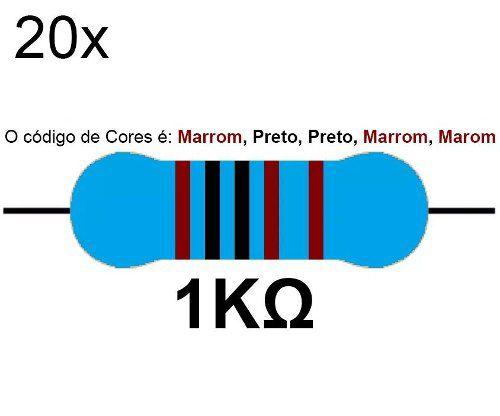 20x Resistor 1k 1/4 W