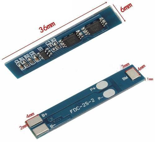 4x Carregador de Bateria Litio 2S Lipo 7A c/ Proteção de Carga e Descarga BMS