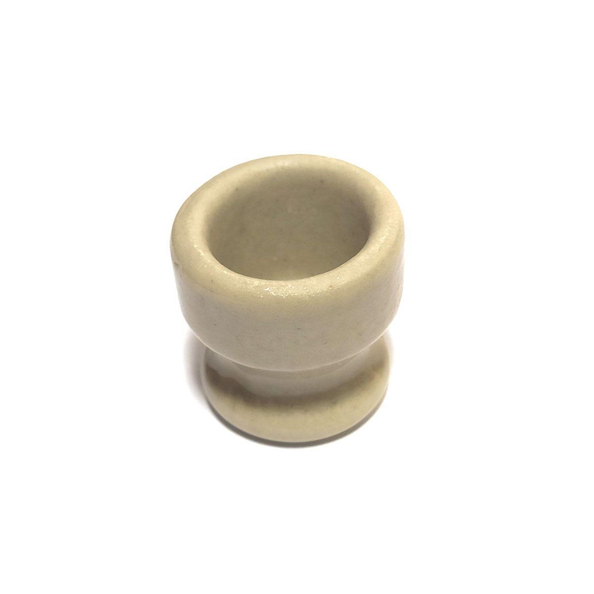 4x Isolador Roldana de Porcelana com Parafusos para Chocadeira / Estufa / Criadeira