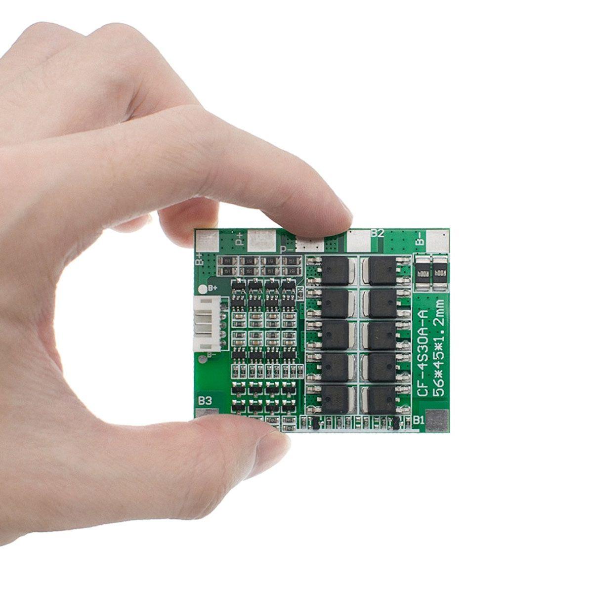4x Placa Proteção e Carregamento Baterias Litio BMS 4S 30A 14,8v