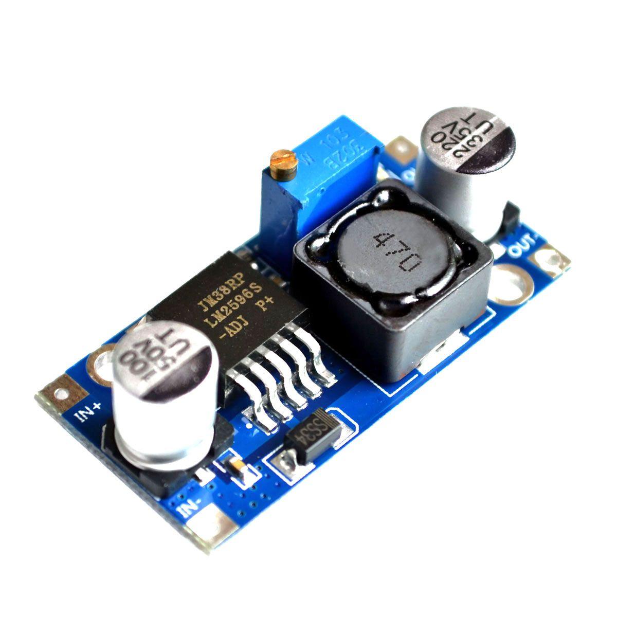 4x Regulador de Tensão Step Down - Buck Conversor DC DC LM2596 3A