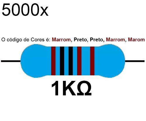 5000x Resistor 1k 1/4 W