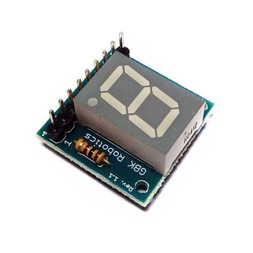 Modulo Display e LCD Anodo Comum 1 Digito 7 Seg. - GBK Robotics - P11