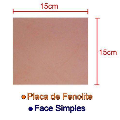 Placa de Fenolite Cobreada Simples 15x15cm para Circuito Impresso - PCI