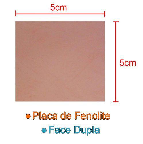 Placa de Fenolite 5x5cm Dupla Face para Circuito Impresso - PCI