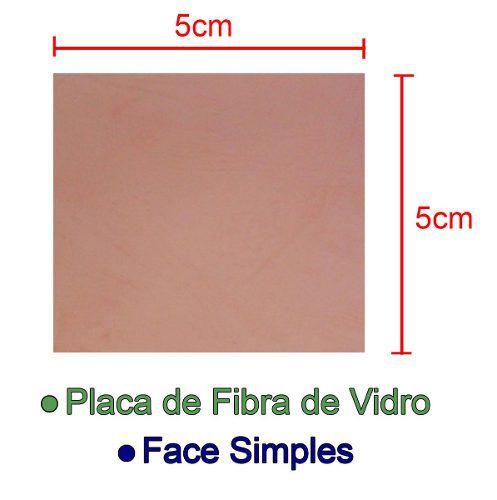 Placa de Fibra de Vidro Simples 5x5cm para Circuito Impresso - PCI