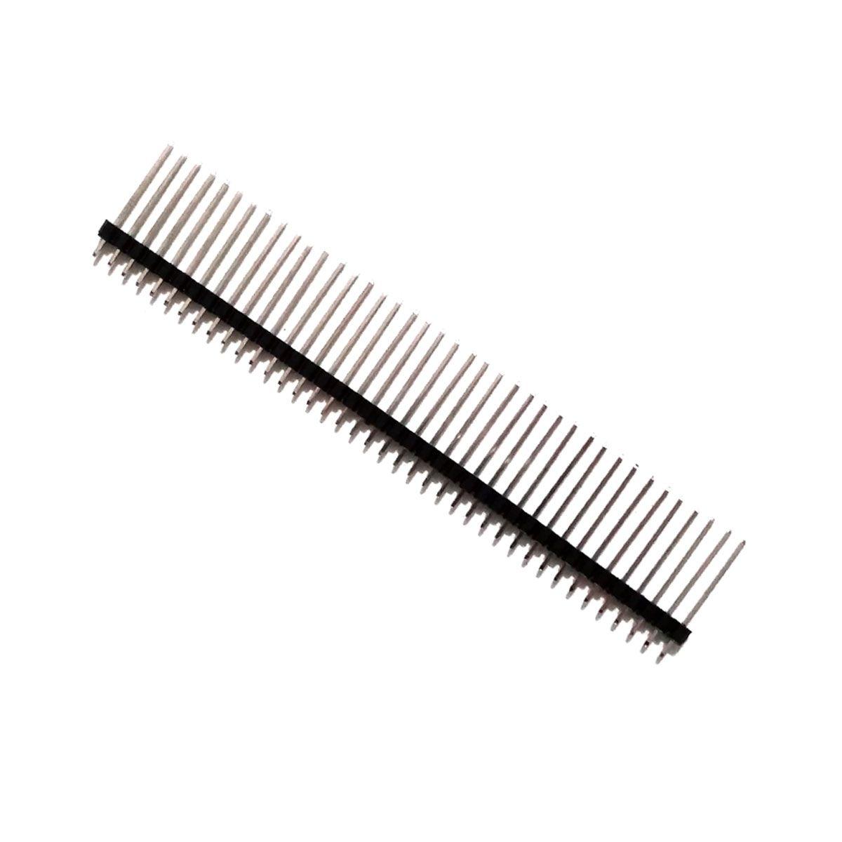 5x Barra de Pinos com 40 Pin Head Macho Grande 1x40x20 - Total de 200 Pin Header 2.54