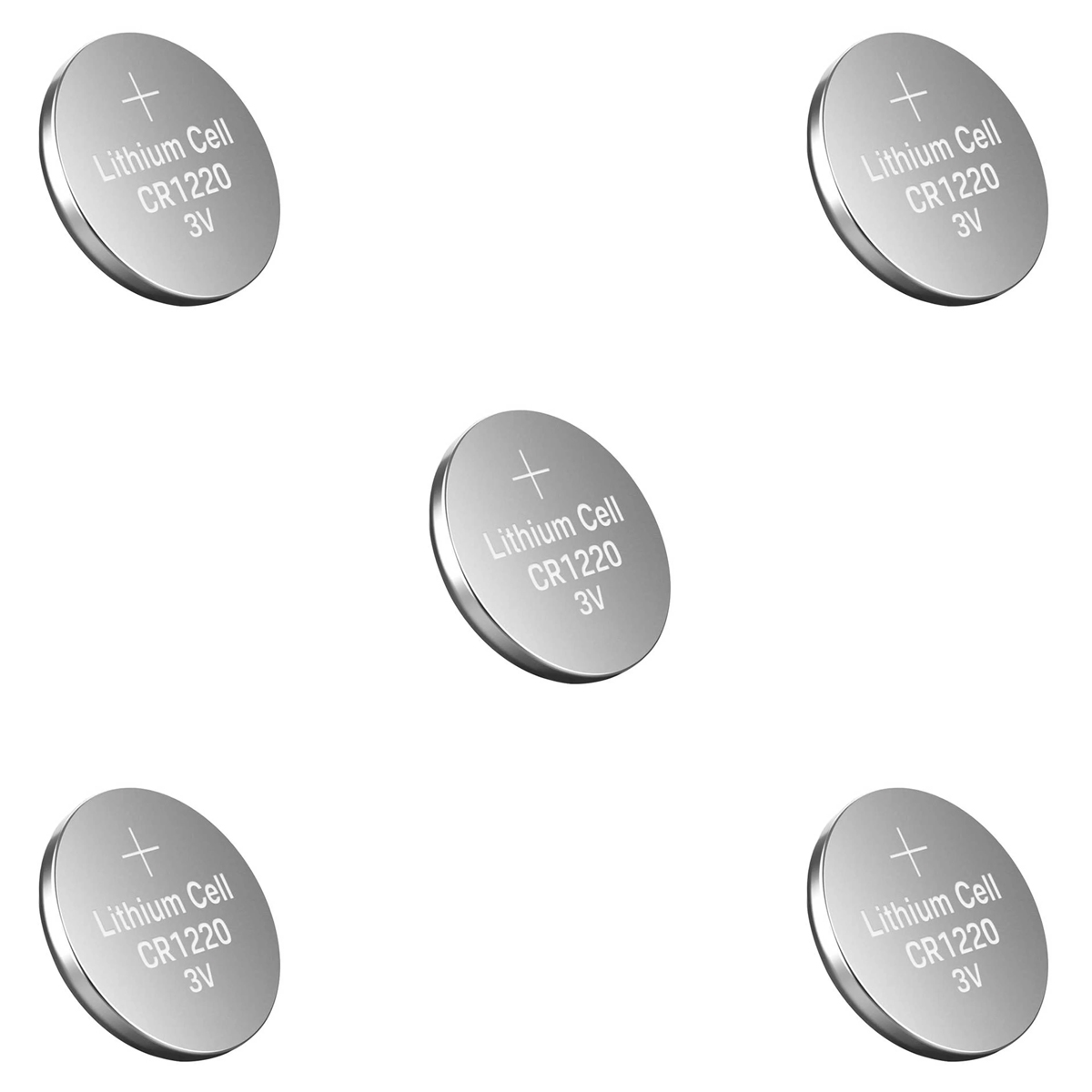 5x Bateria CR1220 3V de Lithium / Pilha CR1220