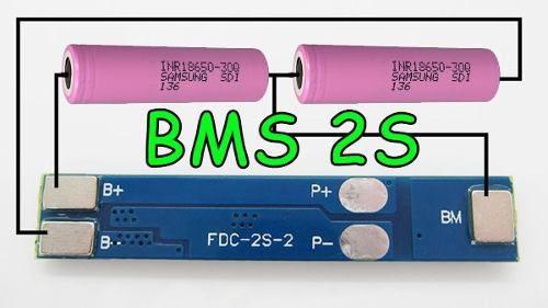 5x Carregador de Bateria Litio 2S Lipo 7A c/ Proteção de Carga e Descarga BMS