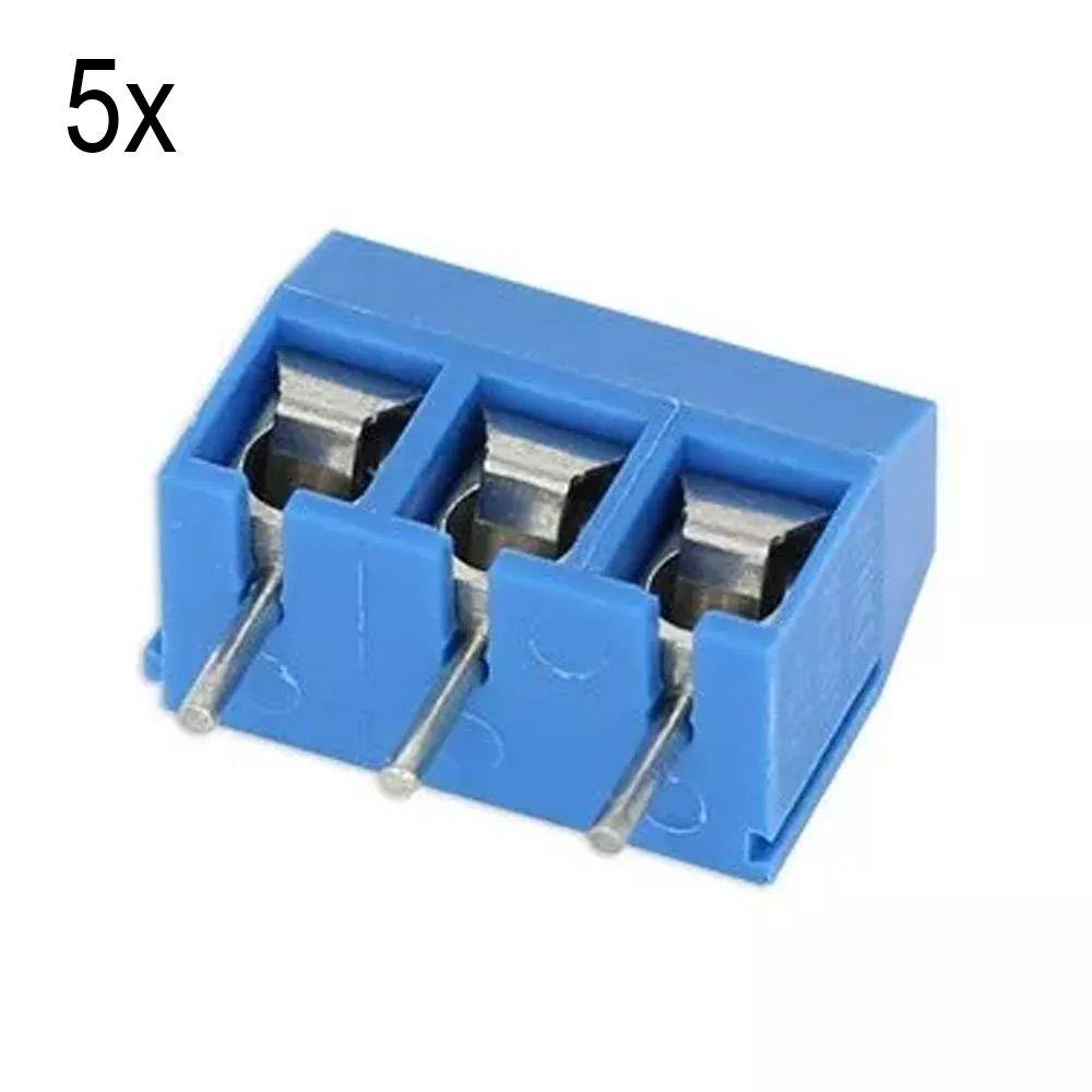 5x Conector Borne KRE KF301 3p 3 Vias com Parafuso