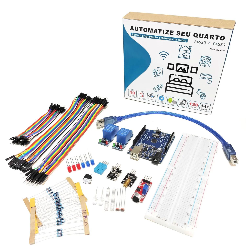 5x Kit Automação Residencial Robótica Com Tutorial Para Arduino - Automatize seu Quarto!