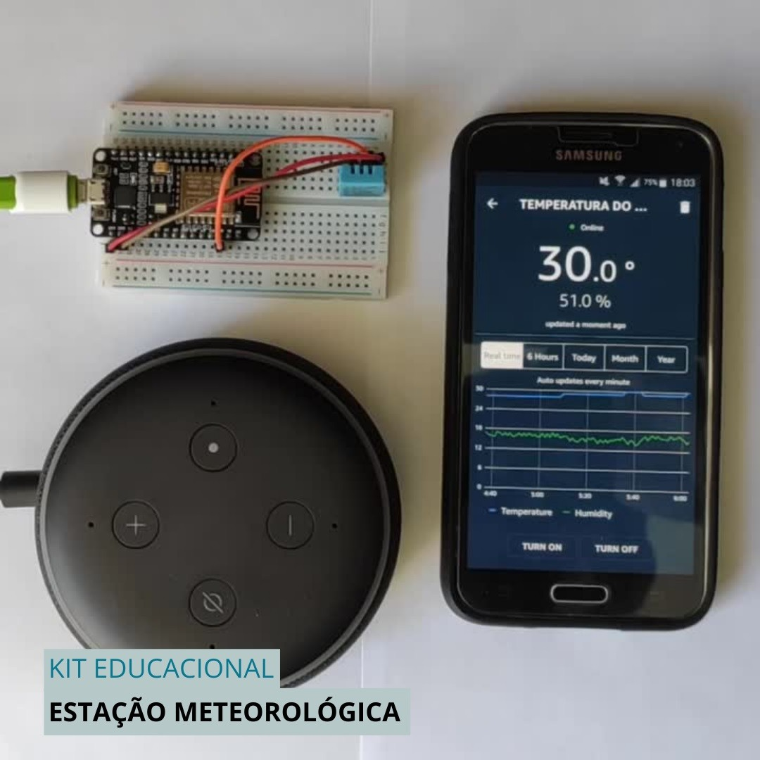 5x KIT Iniciante Internet das Coisas Construa sua Estação Meteorológica IoT