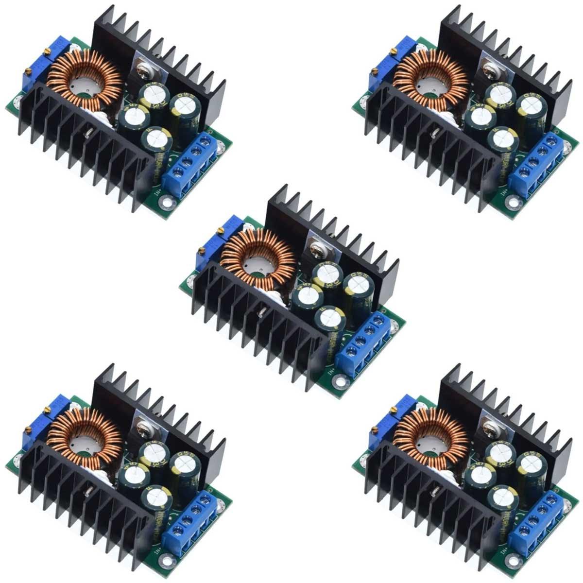 5x Regulador / Conversor de Tensão e Corrente DC Step Down 1.2V a 35V 300W 9A