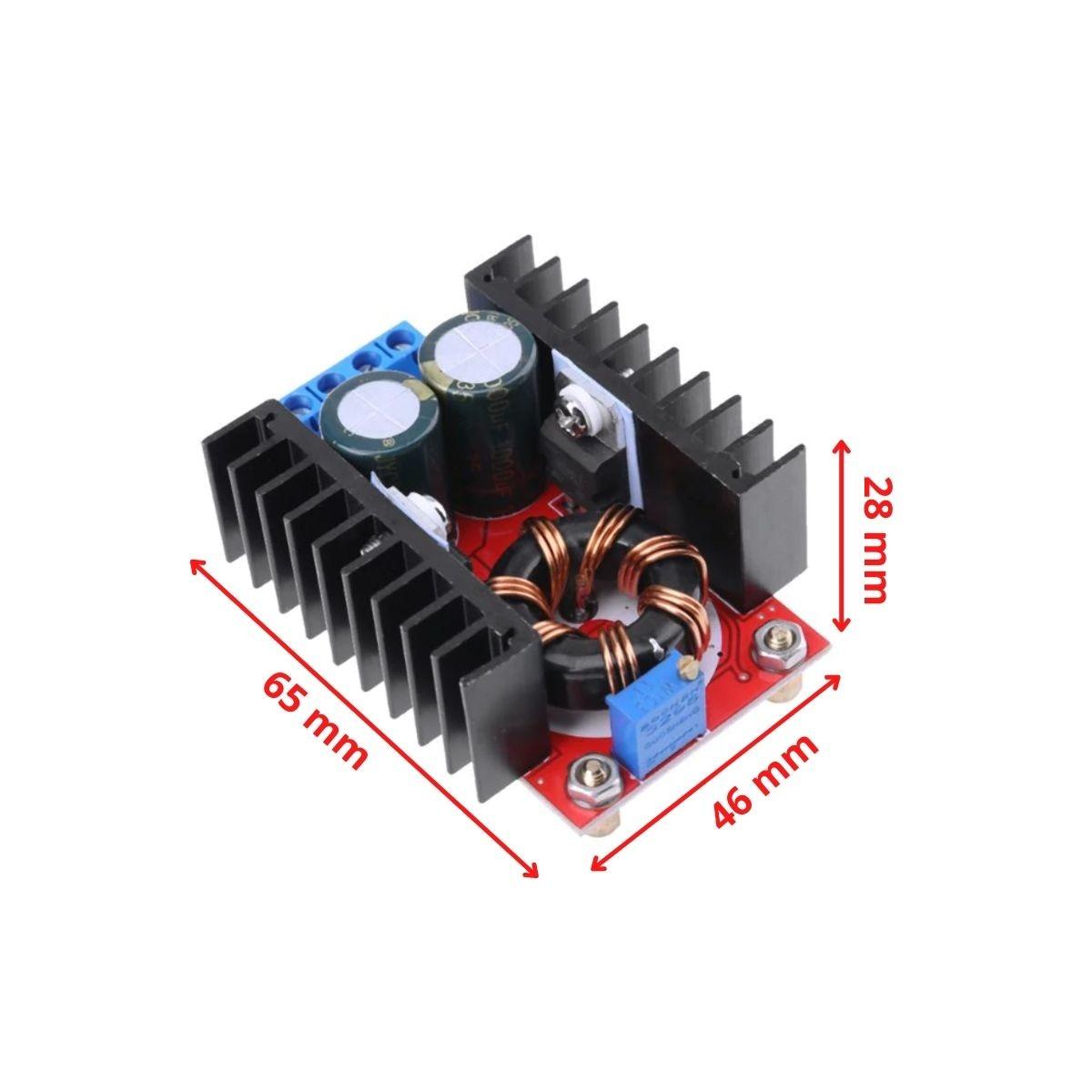 5x Regulador de Tensão Conversor DC Step Up 12v a 35v 150W Boost