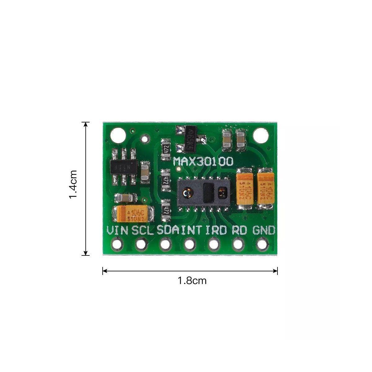 5x Sensor de Frequência Cardíaca Max30100 Oxímetro