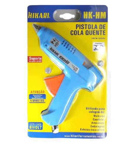 Pistola de Cola Quente 60W Bivolt Profissional Hikari HK-HM