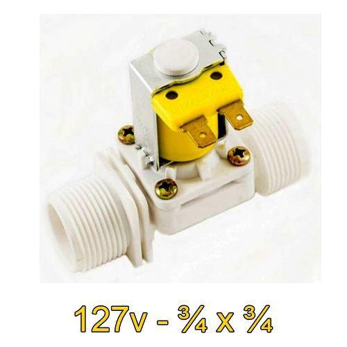 Válvula Solenoide 127v AC 180° (3/4 X 3/4) VA 04